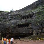 The huge rock which was cut - Caves from afar