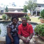 hubby and I at the fountain of youth