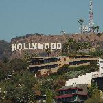  hollywood sign from rooftop