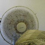  The fan we had in the room - it was much appreciated!