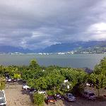 View of Lake Zürich from my room
