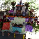 Family day of the dead shrine (front)