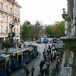  View from balcony. Trams non-stop!