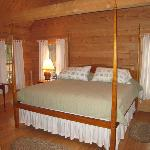 bed in our cabin