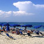 Hotel Nettuno's private beach