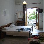 Inside the apartment