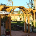 Tasting  Room Sign and Picnic area