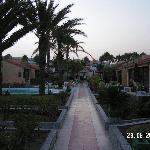 The main path through the bungalows.