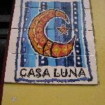 Casa Luna sign from street