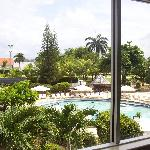 View of pool from room.