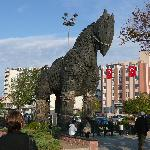 Copy of the Trojan Horse downtown Cann