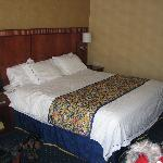  View of the bed (king size)