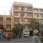 The external view of the Hoa Phuong Hotel