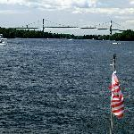 Bridge with Flag of Tour Boat