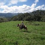 Horseback riding in spectacular scenery.