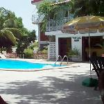 Courtyard, pool & bar