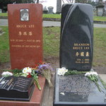 Graves of Bruce & Brandon Lee