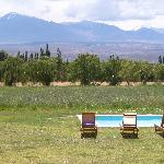 outdoor pool and the Andes