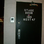 stage door at the Palace Theatre