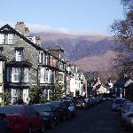Skiddaw from outside Amble House