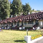 The row of garden cottages