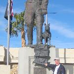 Bill with Patton statue outside museum