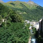 River Gave and Cauterets town centre