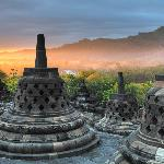 Dawn at Borobudur can be a magical experience