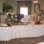 Buffet table in reception area