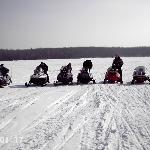 all of us out snowmobiling