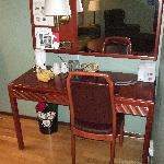 Work desk in living room