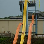 This is me coming down the Lightning Express freefall slide.