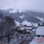 View towards Morzine slopes from bedroom window