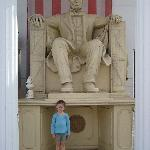 Outside the museum...the Lincoln monument replica