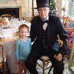Visiting with President Abraham Lincoln...they sometimes have actors at the museum