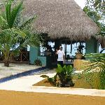 Bar-palapa by pool