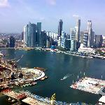  aerial view from singapore flyer