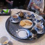 We were greeted with a silver tray of coffee, tea, hot chocolate and homemade cookies.