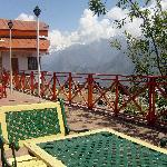 A view of the Cliff Top Club , Auli