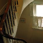 The staircase that leads to the second floor (not squeaky!)