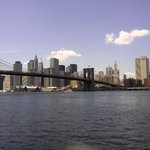 Skyline of Manhattan.  Picture taken from viewing spot in Brooklyn.