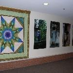 Quilts Displayed in Breakfast area