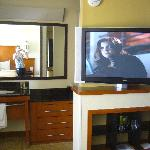 Our room with flat screen TV