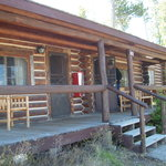  Front porch of cabin.