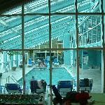 Indoor pool from the activity room
