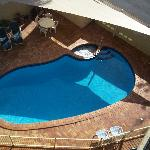 Pool and spa view from our balcony