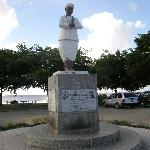 Memorial to Sewdass Sadhu, builder of Waterloo Temple in the Sea