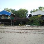 View of the cabins from the water