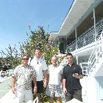  Ray,Steve, Kerry and Scott in front of the hotel