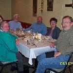 Dining out with hosts Norm and Judy and friends!